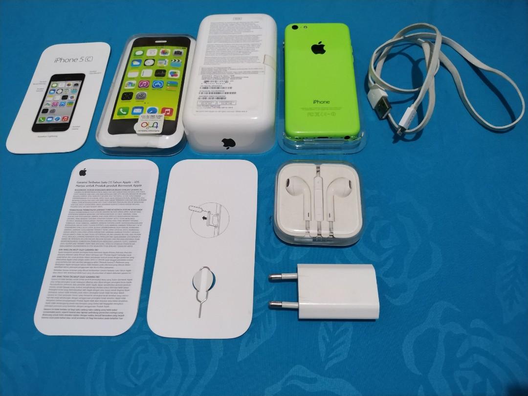 Apple iPhone 5C 16GB Lime Green Ex-Garansi Resmi Indo Lengkp ac8d39ee8f