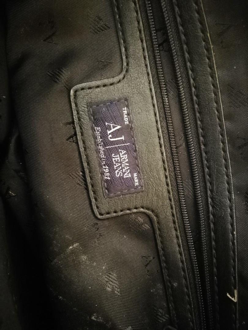 Armani jeans tote bag
