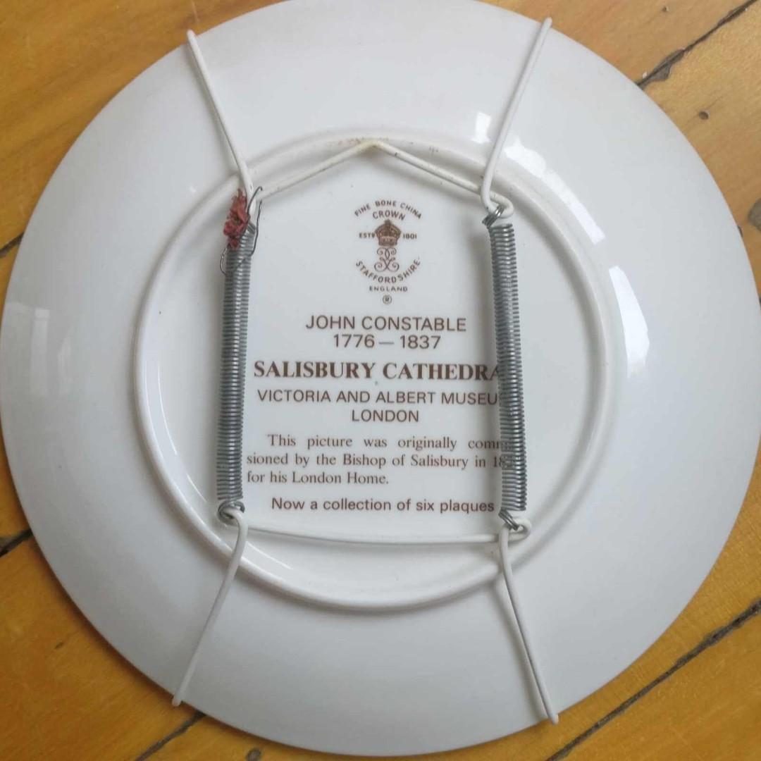 Assiette de collection / Vintage Crown Winsor Plate England SALISBURY CATHEDRAL by John Constable