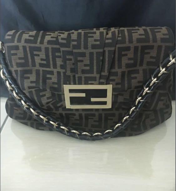 298308ba48f3 💯Authentic Fendi Zucca Handbag