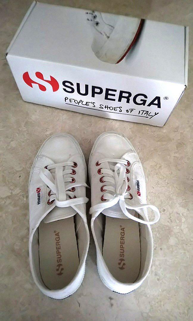 b722a5b8b Authentic Superga 2750 White Shoes - Rose Gold, Women's Fashion ...