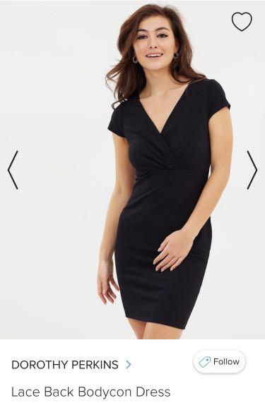 Black Bodycon Dress Size 8