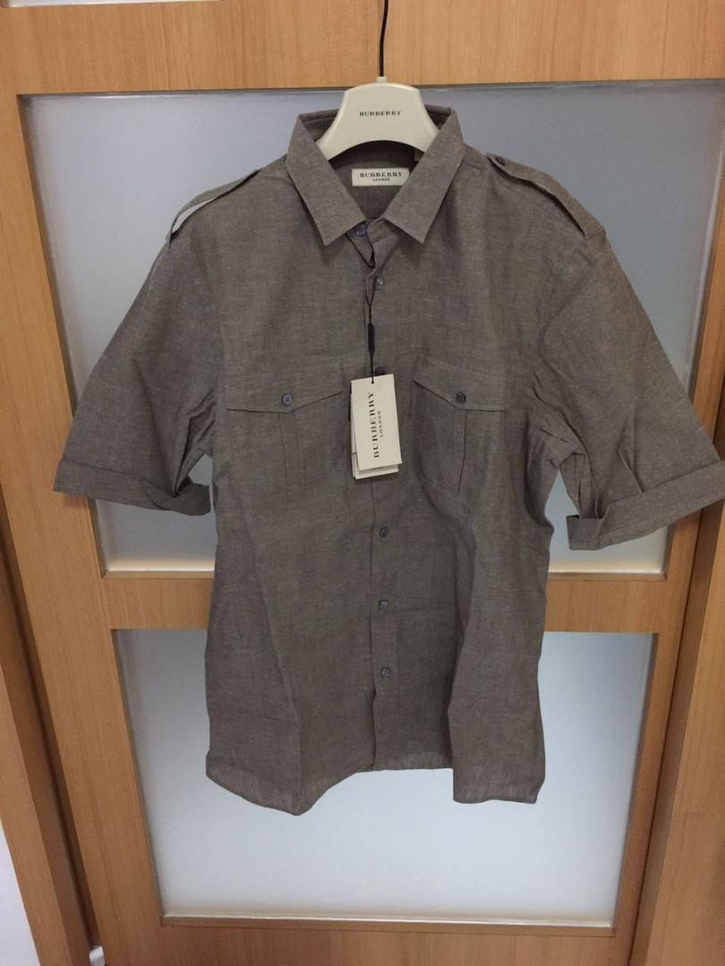 eb7fd081 Bnwt Authentic Burberry Linen Shirt, Luxury, Apparel, Men's on Carousell