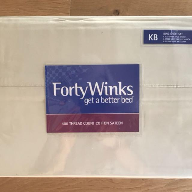 Brand New sealed King size sheet set. Forty winks brand