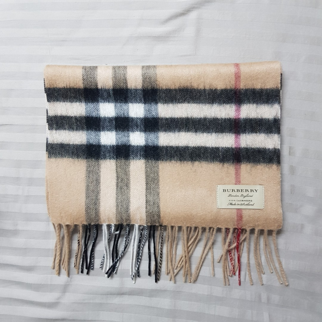 004816c266f7 Burberry classic cashmere scarf heritage check for sale tags jpg 1080x1080  Scarf tags
