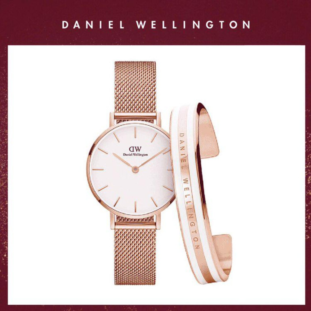 07059fab574d8 Daniel Wellington Original DW Watch Classic Petite Melrose 28mm+Cuff ...