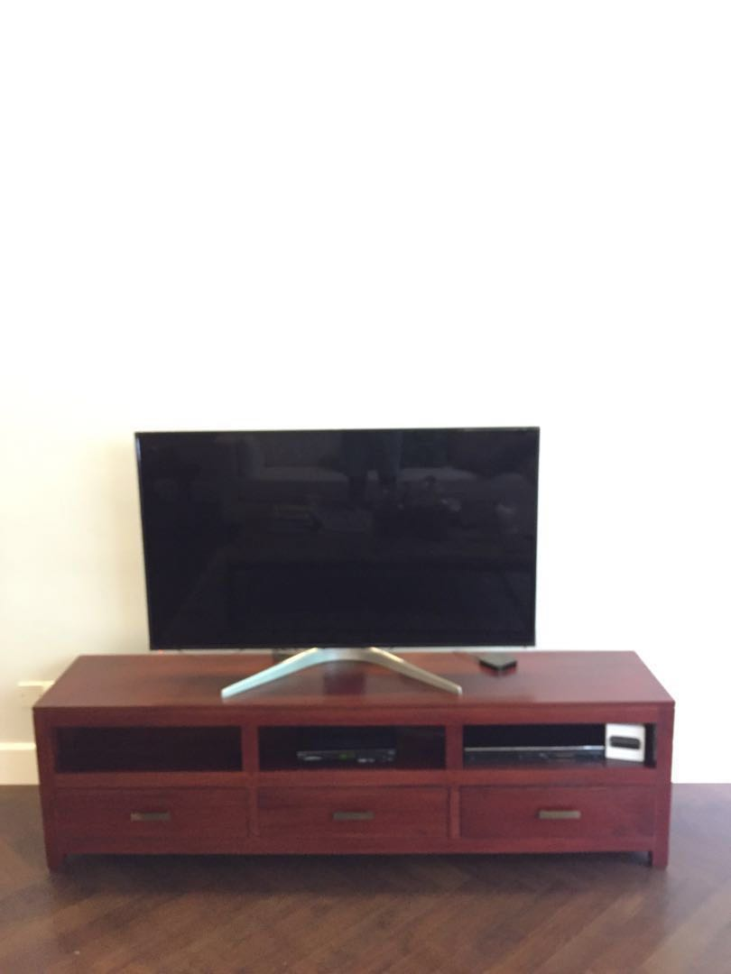 Dark Brown Tv Cabinet Furniture Shelves Drawers On Carousell