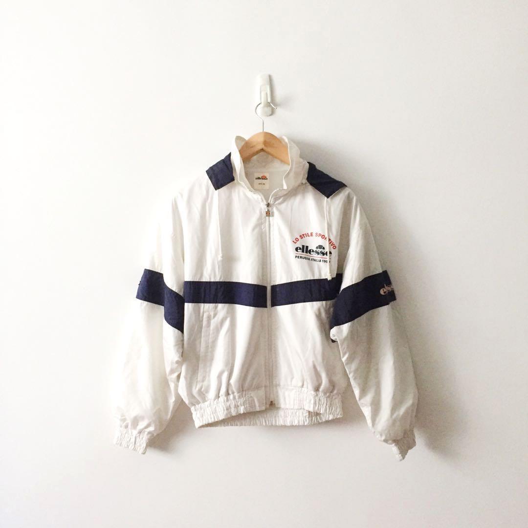 653d90cf Ellesse Full Zip Windbreaker Jacket With Removable Hoodie , Women's ...