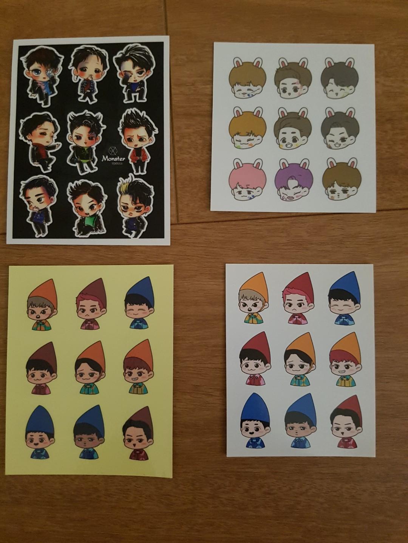 Exo sticker sheets
