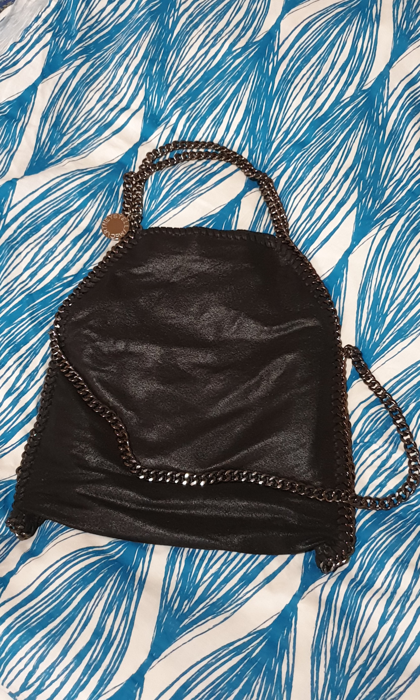 a088c4c8c6d0e Stella McCartney Falabella Shaggy Deer Fold over Tote - Black ...