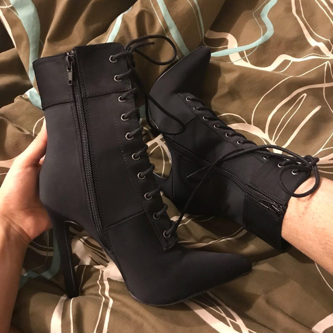 Fashionnova laced booties