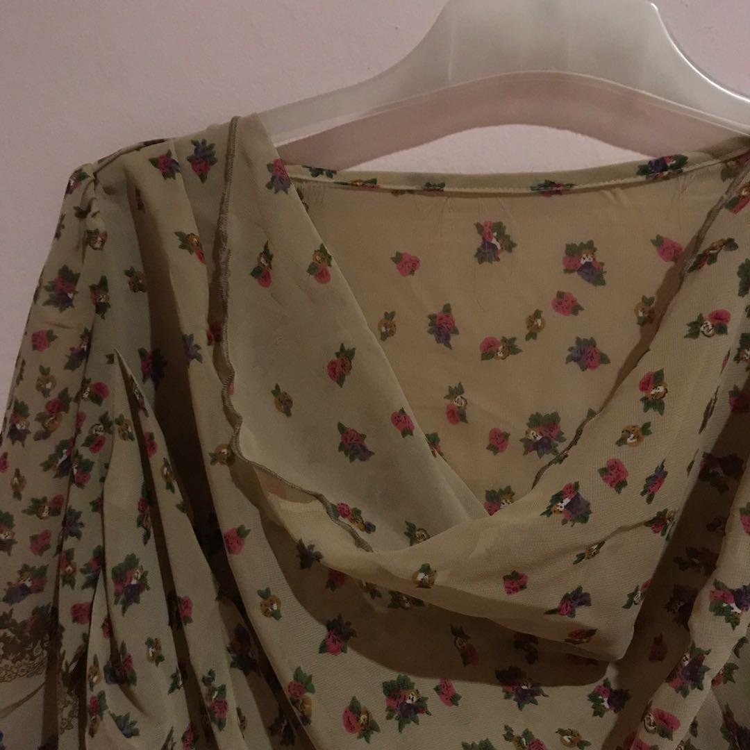 Flowery Colour Top