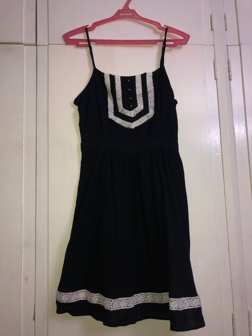 1eda36f65636d Black And White Lace Dress Forever 21 - raveitsafe