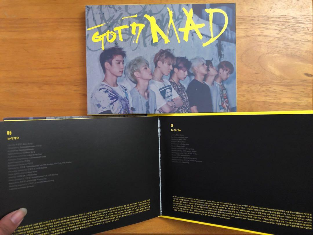 GOT7 MAD Album