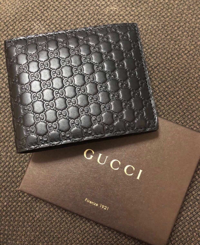 85c66f67575 Gucci Micro GG Guccissima Trifold Wallet