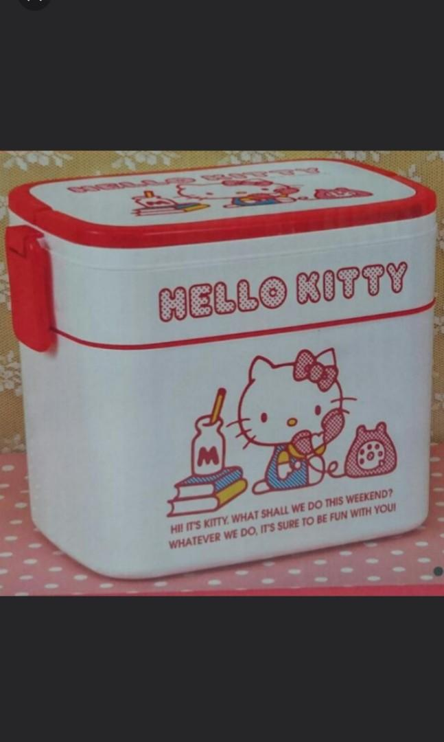 NEW Hello Kitty Sanrio Lunch Box 2020 BENTO Black Gold Not For Sale From Japan