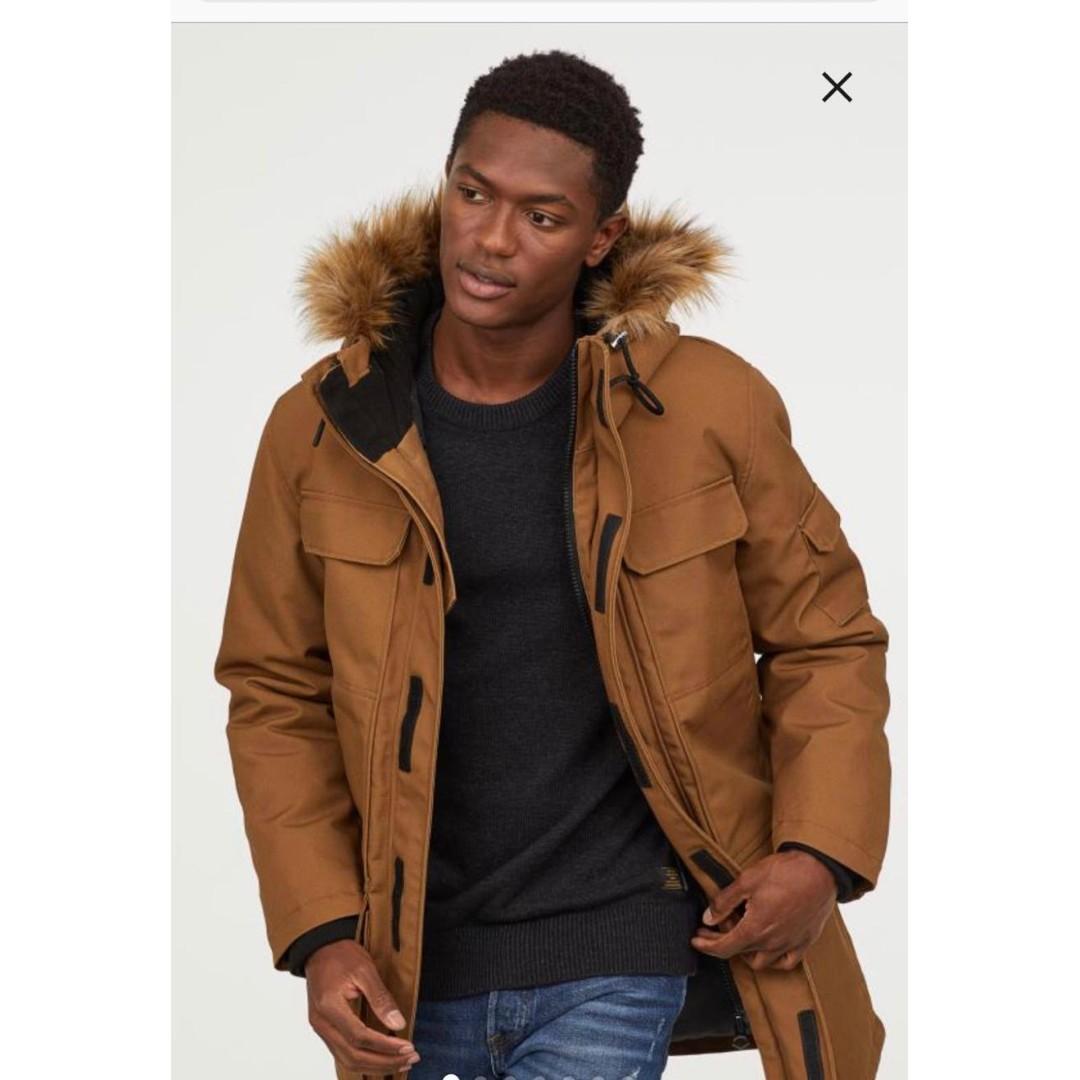 official photos 5887e 6e45e H&M winter warm lined parka coat jacket, Men's Fashion ...