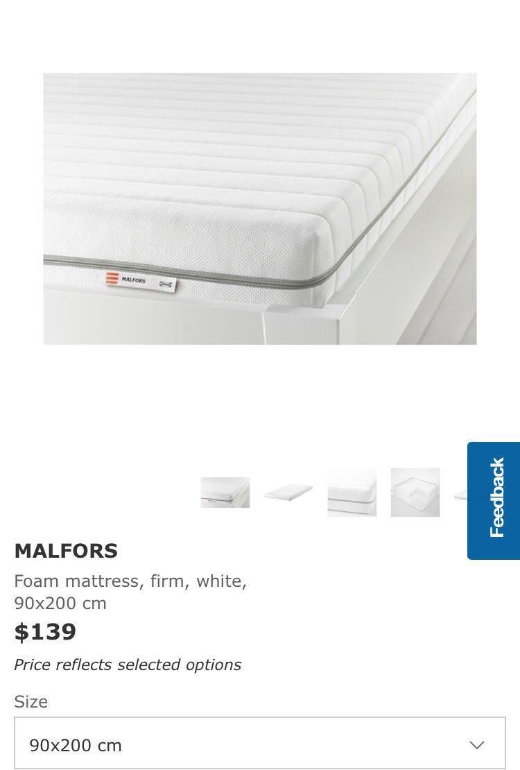separation shoes 66110 0f7d5 Ikea Malfors Mattress (Single), Furniture, Beds & Mattresses ...