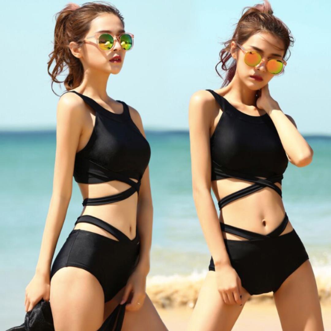 a6232266ed2 Instocks) Korean Sexy Two-Piece Swimsuit, Women's Fashion, Clothes ...
