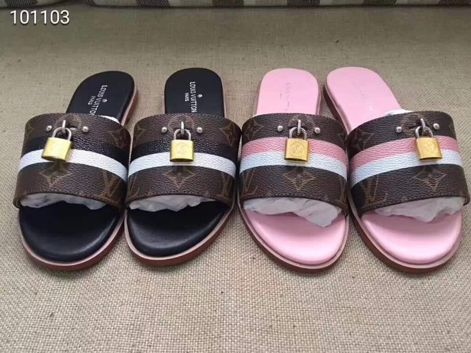 c09bcf8d38d3 Louis Vuitton Lock It Mule Slip On   Sandals LV Authentic Quality ...