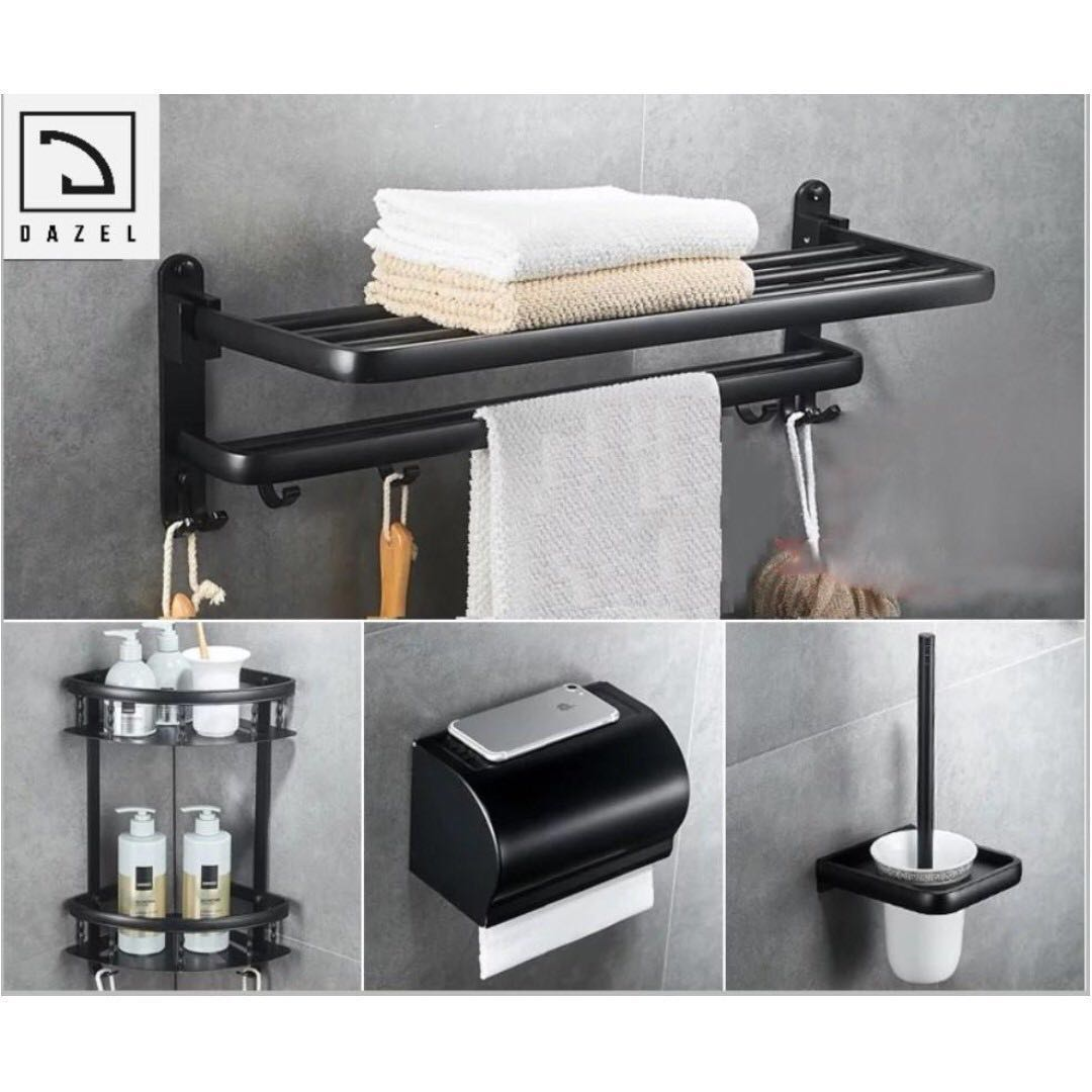 Matte Black Bathroom Accessories, Furniture, Others on ...