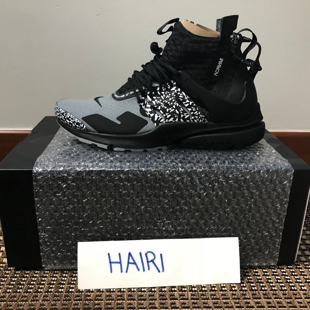9f62785c5118 Nike Air Presto Mid x Acronym Cool Grey (US 9)