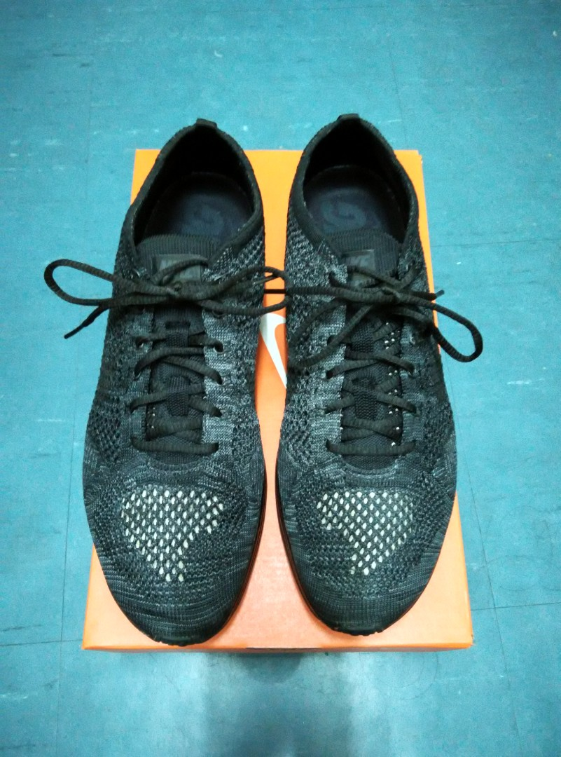 d0024270382c Nike Flyknit Racer Triple Black UK8.5 US9.5