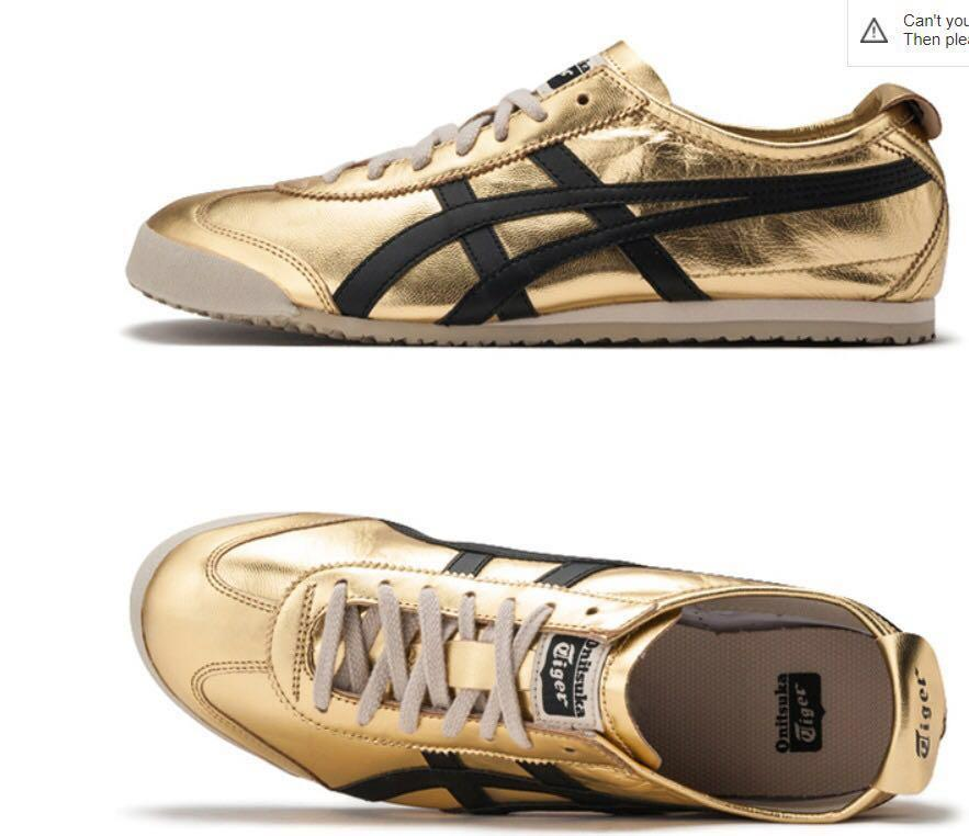 the latest 575a3 2a46c Onitsuka Tiger Mexico 66 Silver Gold 225-300, Women's ...