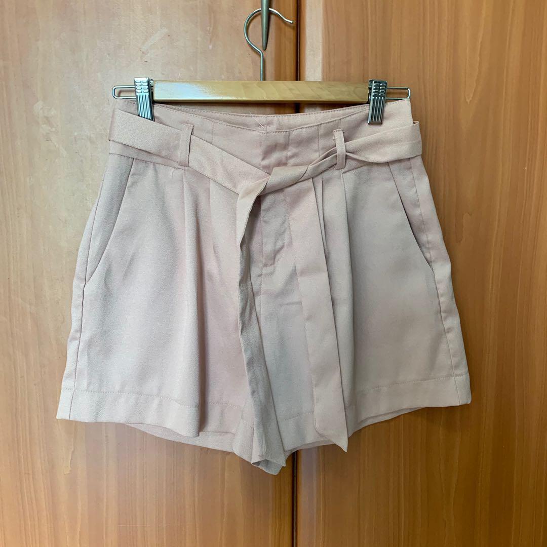 TEMT Pink Belted Shorts