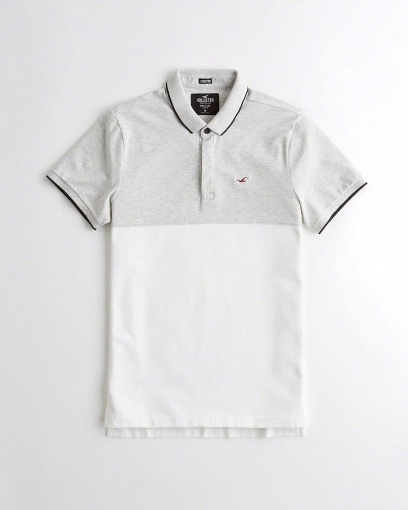 015952f1 PO] HOLLISTER STRETCH SLIM FIT POLO, Men's Fashion, Clothes, Tops on ...