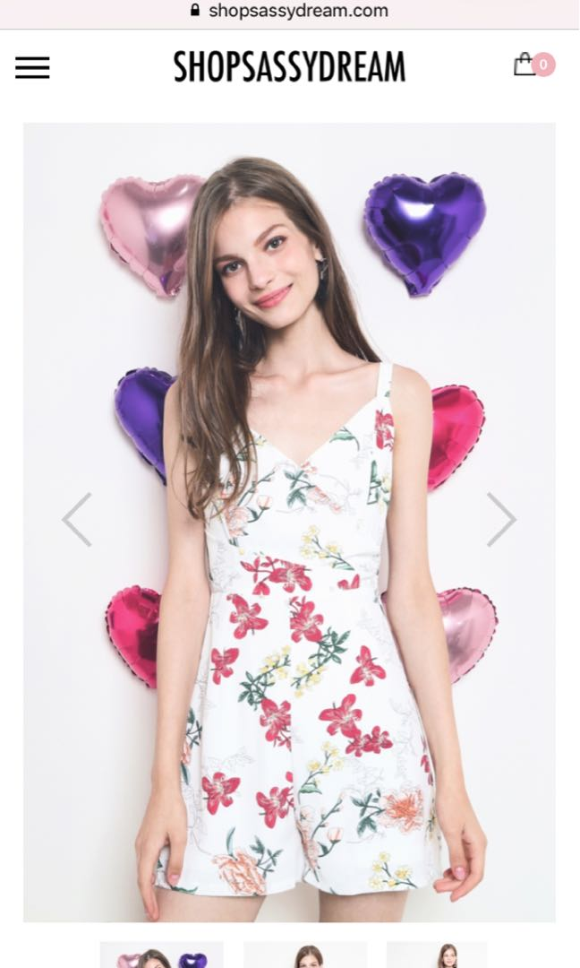 76e18443d06 SSD Xandra Playsuit White Floral