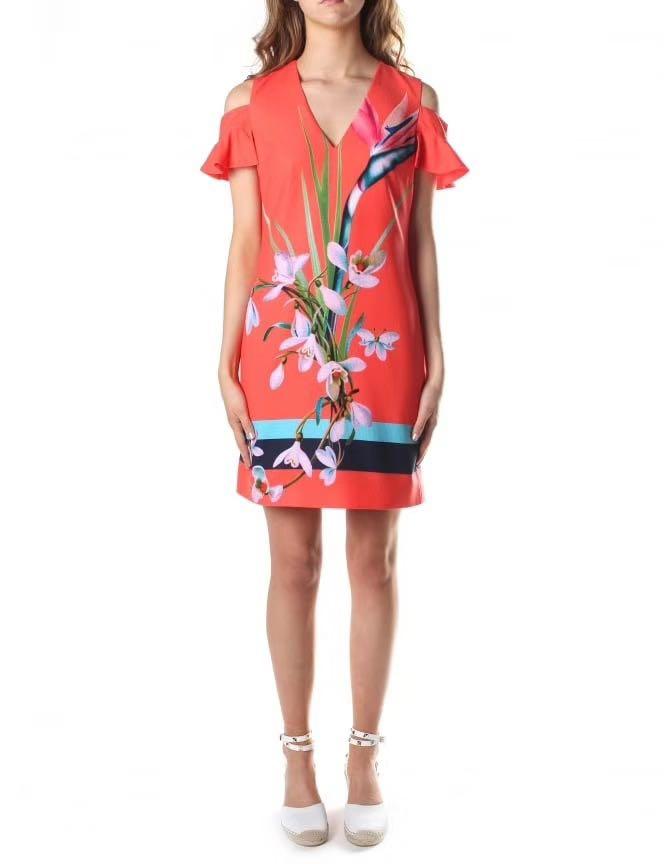 1b675ce7f Ted Baker Orange Floral Dress
