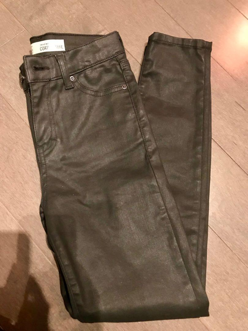 "TopShop Coated ""Jamie"" Jeans - 25"
