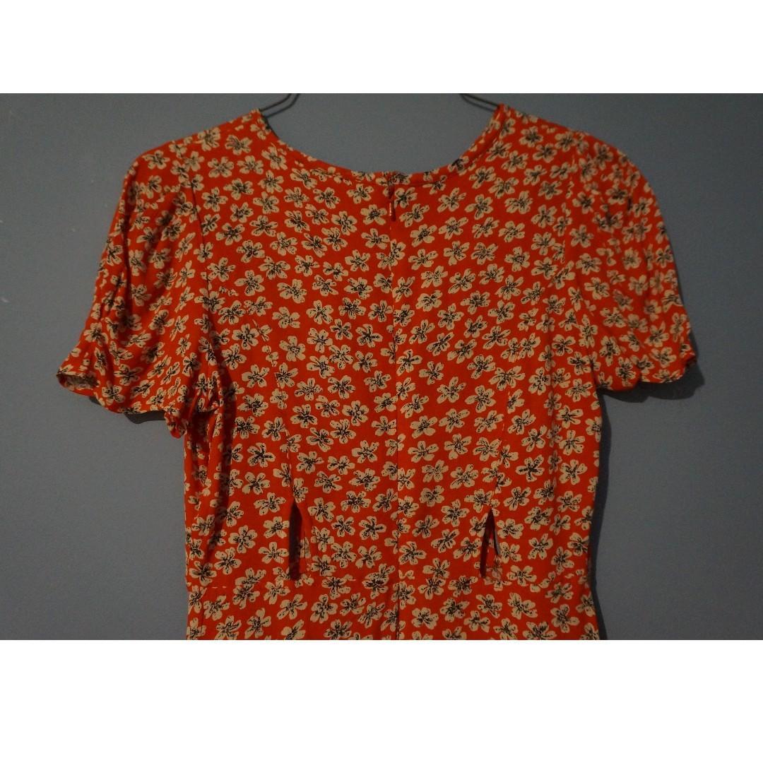 TOPSHOP PETITE Cut-out Tea Dress Size 6