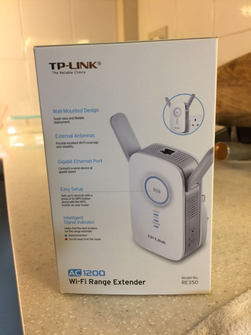 TP-Link Wi-Fi Range Extender Model No  RE350