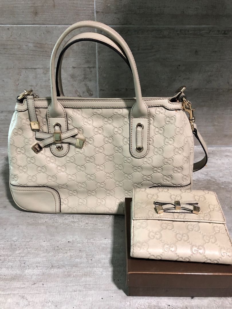 67b3184cc042 Used Gucci leather handbag and wallet, Luxury, Bags & Wallets ...
