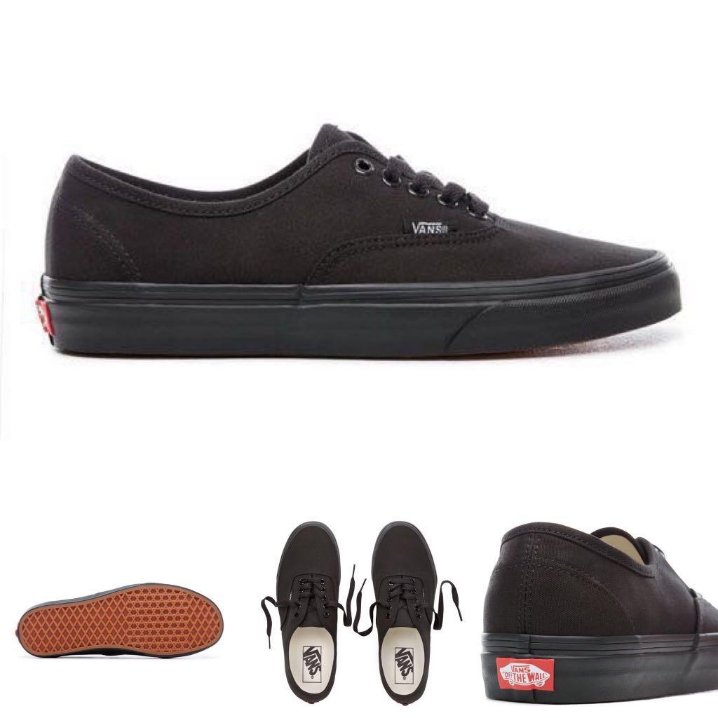 5a8e5de53c Vans Full Black Authentic Shoes