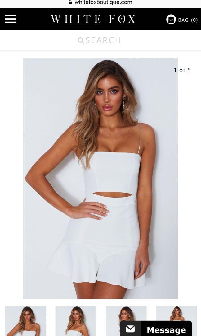 Whitefox boutique dress- white