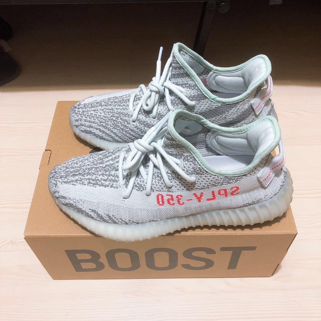 new style b19a4 f555c Yeezy Boost 350 V2 Blue Tint + Sole Shields, Men's Fashion ...