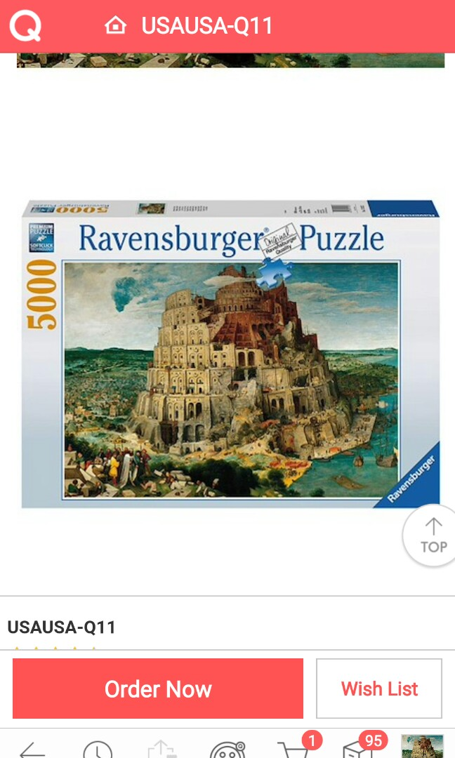 Zigsaw Puzzle 5000pcs on verneer wooden frame