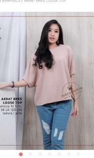 Loose pink top