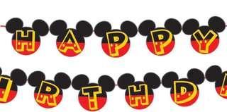 Happy Birthday Banner Mickey