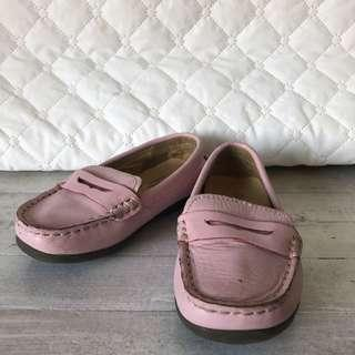 Pabder Girls' Toddlers' Pink Calf Leather Penny Loafers Shoes size 7K or 23