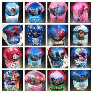 Kids Cartoon Caps / Goodie bag party gifts (20+ designs)