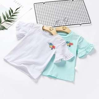 Kids girl Flower Embroidered Top