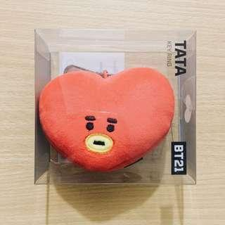 [ONHAND] BTS BT21 TATA OFFICIAL FACE KEYRING