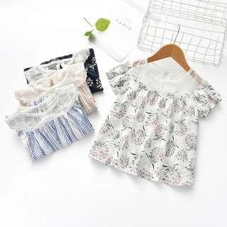 Kids Girl top floral lace