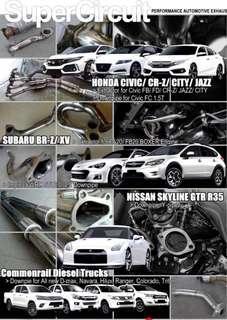 Supercircuit Header/ Extractor Honda, Subaru, Nissan, Toyota