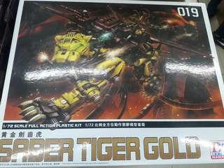Bt zoids Saber tiger gold 1/72 scale full action plastic kit