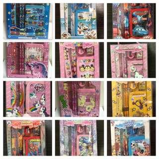 Kids Birthday Goodie Bag / Stationery Set with Wallet